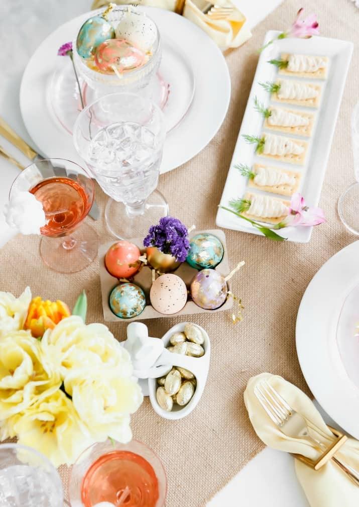 diy easter table setting