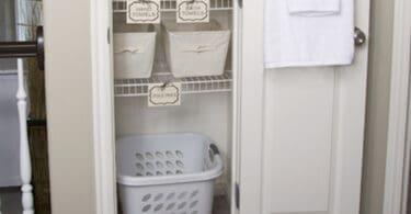 diy linen closet makeover organization