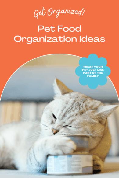 Pet Food Organization Ideas