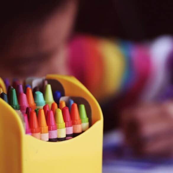 box of crayons; preschool education options