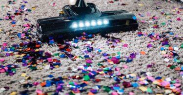 confetti on carpet