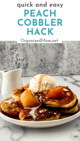 quick peach cobbler dessert