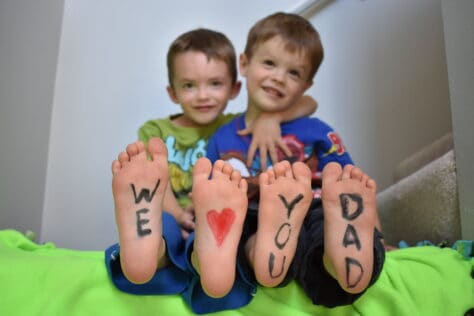 Kid feet Father's Day Gift Ideas From Kids