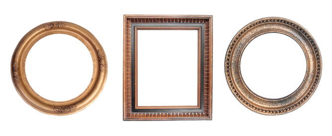 empty frames for a family photo wall