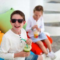 kids drinking drinks