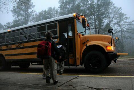 school bus first day of school