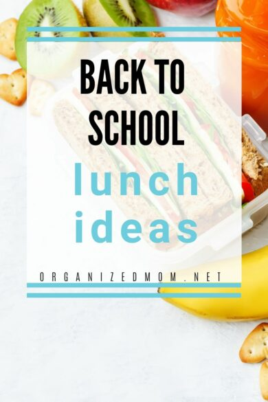 back to school lunch Pinterest pin