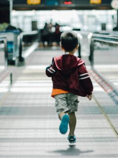 child in airport