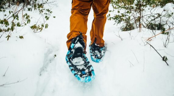 snow shoes enjoy nature with your kids
