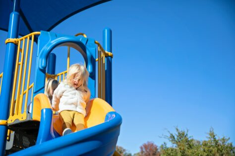 toddler on slide activities for 2-year-olds