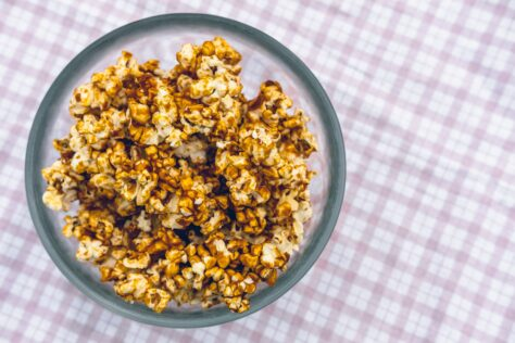 caramel popcorn game day recipes